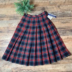 Vintage Pendleton Plaid Pleated Skirt NEW Size 10
